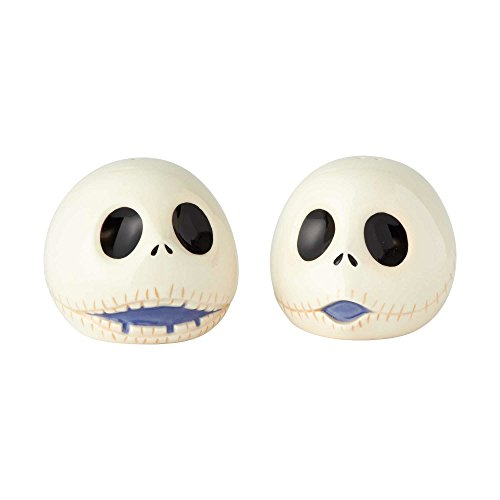 "Enesco Disney Nightmare Before Christmas"" Jack Ceramic Salt and Pepper Shakers, 2.5"", Multicolor"