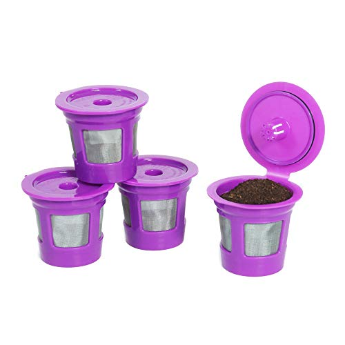 Perfect Pod ECO-Save Reusable K-Cup Coffee Pod Filters   Refillable Capsules with Built-In, Integrated Mesh Strainer, 4-Pack