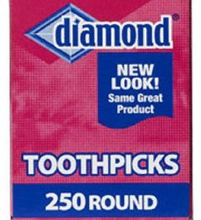 Diamond Round Toothpicks, Pack of 250 3
