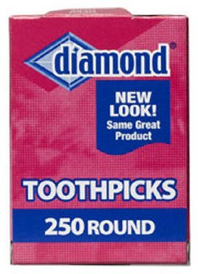 Diamond Round Toothpicks, Pack of 250 3