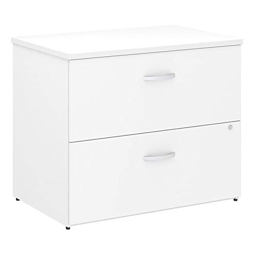Bush Business Furniture Studio C Locking Lateral File Cabinet in White