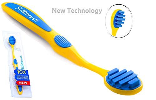 New Technology | Suction Scraper-Cleaner | Stilobrush | Works as a Mini-vacuum Cleaner | Carefree Solution to Bad Breath | Fresh Breath in 10sec | Ayurvedic | No Metal Sharp-edges | Kids too Yellow