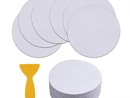 40 Pieces Non-Slip Safety Shower Treads 3.9in PEVA Anti-slip Discs Tape Non Slip Stickers for Tubs Bath Clear