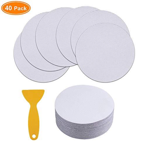 40 Pieces Non-Slip Safety Shower Treads 3.9in PEVA Anti-slip Discs Tape Non Slip Stickers for Tubs Bath Clear