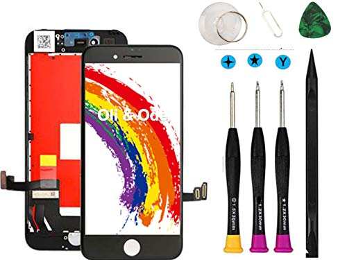 Compatible with iPhone 7 Screen Replacement Black Oli & Ode LCD Digitizer Touch Screen Assembly Set with 3D Touch Model No. A1660, A1778, A1779 Black