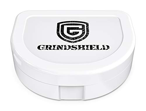 GRINDSHIELD Mouth Guard Case - Maximum Storage & Protection for Mouth Guards, Mouth Tray, Night Guard - Dental Grade Mouthguard Cases - Hygienic, Anti-Bacterial, Durable, Compact, Secure Container