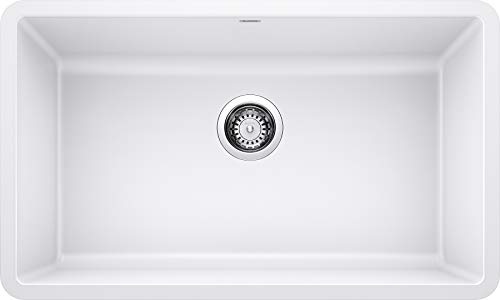 BLANCO 442533 PRECIS SILGRANIT Undermount Kitchen Sink, White