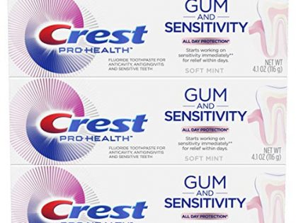 Crest Pro-Health Gum and Sensitivity, Sensitive Toothpaste, All-Day Protection, Pack of 3, 4.1 oz
