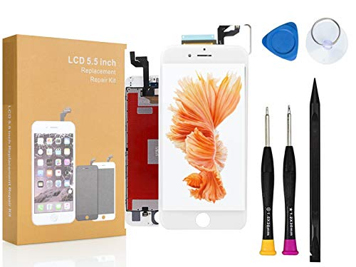 Compatible with iPhone 6S Plus Screen Replacement COASD LCD Digitizer Touch Screen Assembly Set with 3D Touch Model No: A1634, A1687, A1699 White