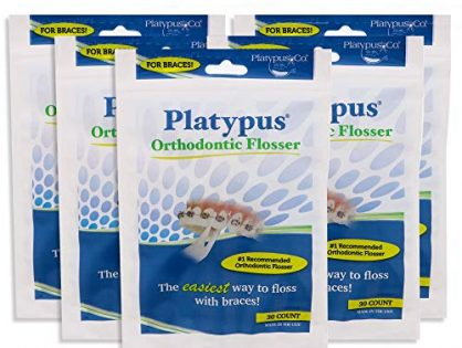 Platypus Ortho Flosser for Braces 30-Count 5 Pack