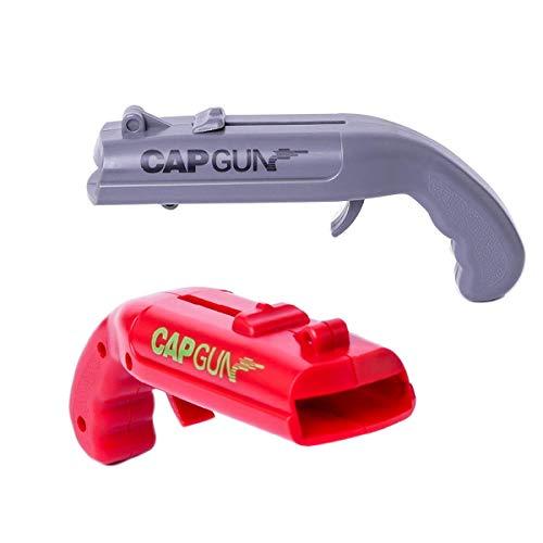 Creative Bottle Cap Gun Opener Beer Plastic Bottle Opener Cap Gun Launcher a Gift for Party Drinking Funny Game 2 Pack
