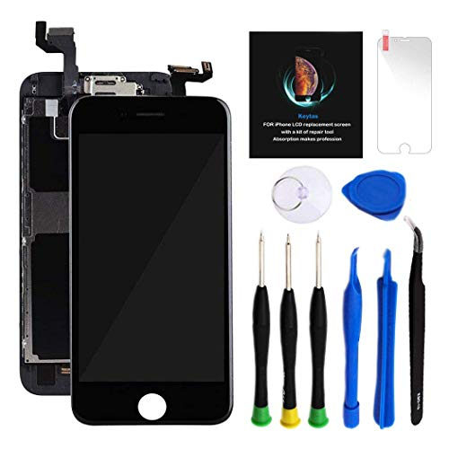 """For iPhone 6S Plus Screen Replacement Kit Black 5.5"""" LCD Display iPhone 6S Plus Replacement Touch Digitizer Screen Full Assembly with Front Camera+ Earpiece+ Repair Tools Kit+ Screen Protector Black"""