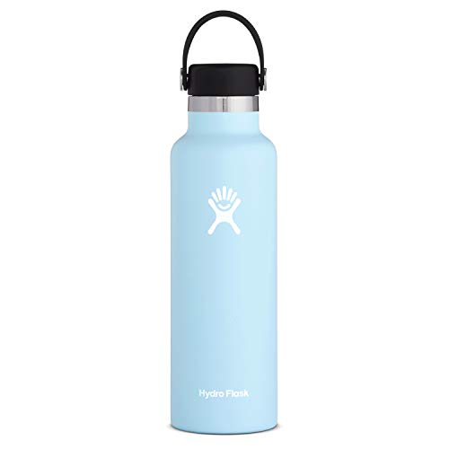 Hydro Flask Standard Mouth Water Bottle, Flex Cap - 21 oz, Frost