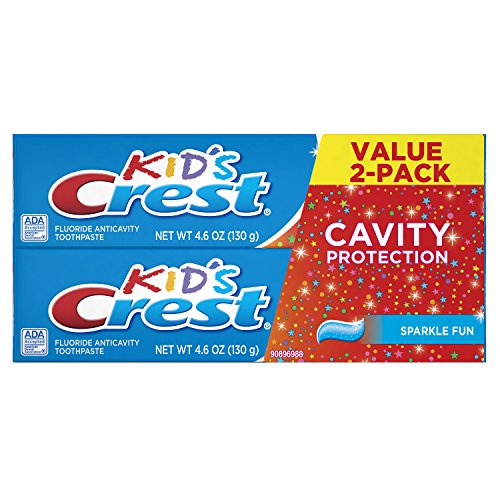 Crest Kid's Cavity Protection Toothpaste for Kids children and toddlers 2+, Sparkle Fun Flavor, 4.6 ounces, Pack of 2