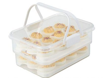 SnapLock by Progressive SNL-1013W Collapsible Egg Carrier, One Size, White
