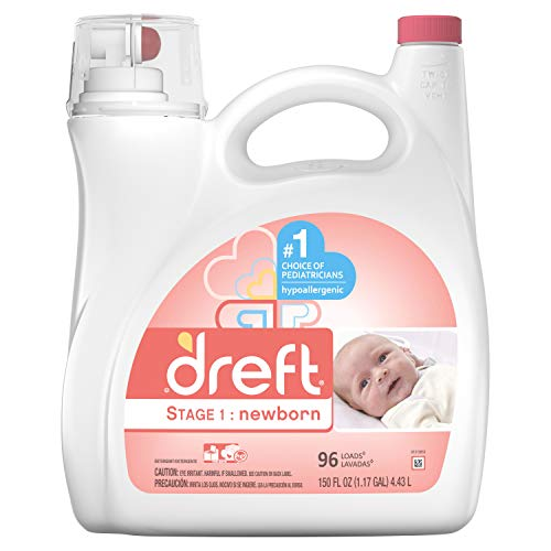 Dreft Stage 1: Newborn Liquid Laundry Detergent HE, 150 oz, 96 loads