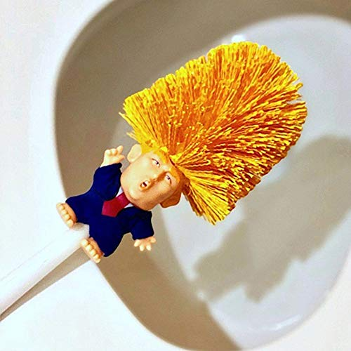 White Stick - shengyze President Donald Trump Toilet Brushes Long Handle Toilet Bowl Brush Cleaner for Home Bathroom, Make Toilet Great Again