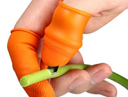 Fruit and Vegetable Picking Potted Plants Trim Silicone Thumb Knife Set Picking Portable Knife Garden Tools 1