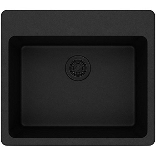 Elkay Quartz Classic ELG2522BK0 Single Bowl Drop-in Sink, Black