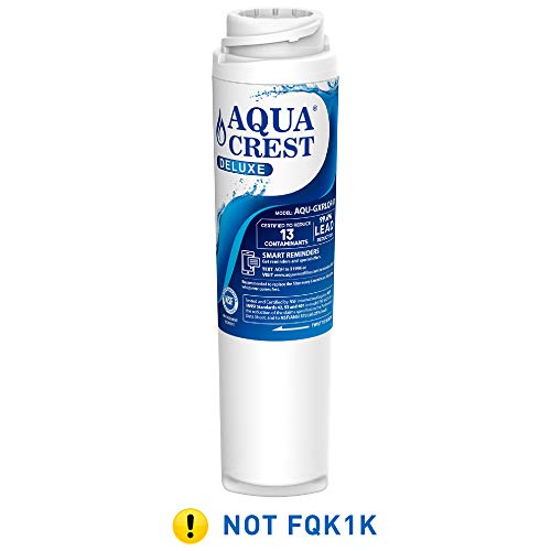 AQUACREST NSF 401,53&42 Replacement GXRLQR Inline Water Filter, Compatible with GE SmartWater Twist and Lock In-Line GXRLQR - Reduces Lead, Chlorine, Taste&Odor, Cyst, Benzene and more