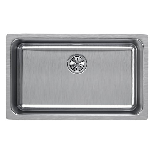 Elkay ELUH281610 Lustertone Classic Single Bowl Undermount Stainless Steel Sink