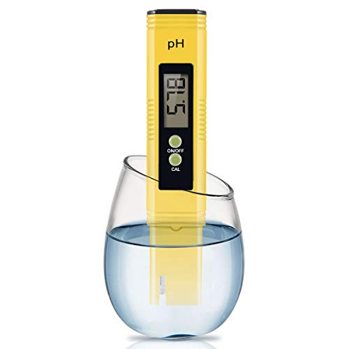 Digital PH Meter, PH Meter 0.01 PH High Accuracy Water Quality Tester with 0-14 PH Measurement Range for Household Drinking, Pool and Aquarium Water PH Tester Design with ATC 2020-Yellow