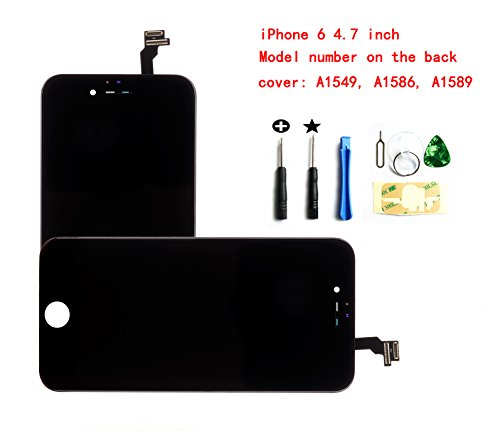 Black iPhone 6 4.7 inch LCD Screen Replacement Full digitizer Assembly Frame Set Front Glass Display Required Tool kit
