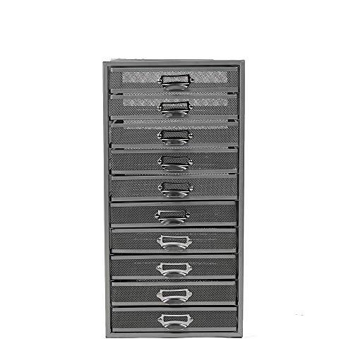 Mind Reader 10CABMESH-SIL Storage Organizer, Heavy Duty Multi-Purpose, Silver 10 Drawer