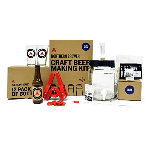 Northern Brewer - All Inclusive Gift Set 1 Gallon Homebrewing Starter Kit with Recipe Kama Citra IPA