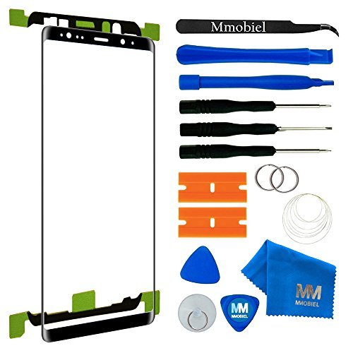 MMOBIEL Front Glass Repair kit Replacement Compatible with Samsung Galaxy Note 8 N950 Black 6.3Inch Display incl Tools