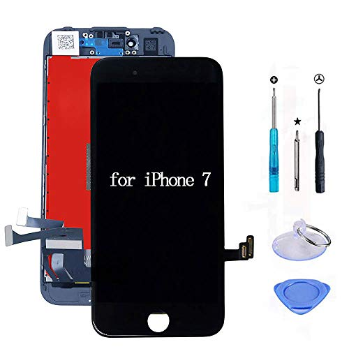 URSEND for iPhone 7 LCD Digitizer Screen Replacement Display Touch Assembly Black 4.7'' with 3D Touch + Free Repair Tools Kit