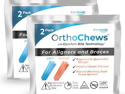EverSmile OrthoChews Medical Grade Silicone Chew with Comfort Bite Technology | Dental Aligner Seater, Chewies for Invisalign, Clear or Metal Braces | Help to Seat your Aligners Trays 2 Pack