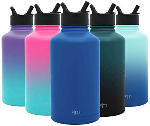 Hydro Vacuum Insulated Flask Double Wall Half Gallon Chug Jug - 18/8 Stainless Steel -Twilight - Simple Modern 64 oz Summit Water Bottle with Straw Lid