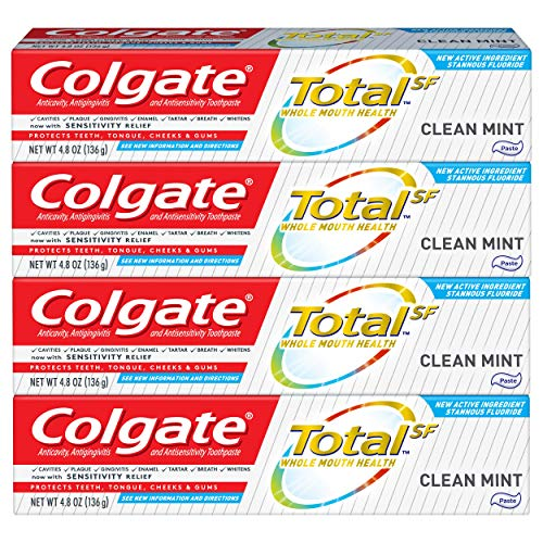 Colgate Total Toothpaste, Clean Mint - 4.8 Oz 4 Pack