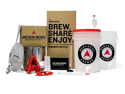 Northern Brewer - Brew. Share. Enjoy. HomeBrewing Starter Set, Equipment and Recipe for 5 Gallon Batches Block Party Amber with Testing Equipment
