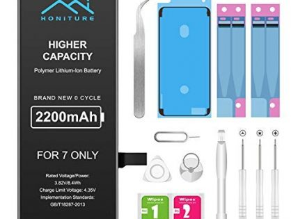Battery for iPhone 7 2200mAh High Capacity Replacement iPhone 7 Battery, Professional Complete Toolwith Two Adhesive Strips and User Manual 0 Cycle Upgrade for iPhone 7 Only