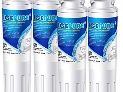 ICEPURE UKF8001 Replacement Refrigerator Water Filter, Compatible with Maytag UKF8001, UKF8001AXX, UKF8001P, Whirlpool 4396395, 469006, EDR4RXD1, EveryDrop Filter 4, Puriclean II, RWF0900A 4PACK