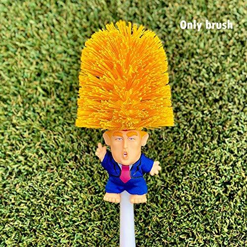 Tenrry 1 Pcs Donald Trump Toilet Bowl Brush Funny Gag Gift Toilet Great Again