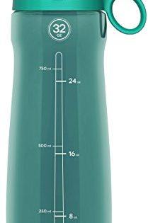 Pogo Tritan Water Bottle with Soft Straw, Teal, 32 Oz.