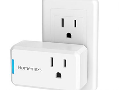 Homemaxs Wi-Fi Smart Plug, Mini Smart Outlet Socket Compatible with Amazon Alexa and Google Home Assistant IFTTT, No Hub Required, Compact and Easy to Use