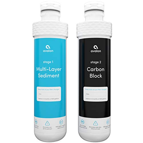 Avalon 2 Stage Replacement Filters For Avalon Branded Bottleless Water Coolers PURCHASED AFTER JANUARY 2018, NSF Certified, 1500 Gallons