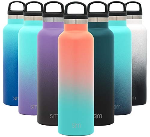 Simple Modern 20oz Ascent Water Bottle - Leakproof Ombre: Havana - Hydro Vacuum Insulated Tumbler Flask w/Handle Lid - Double Wall Stainless Steel Reusable