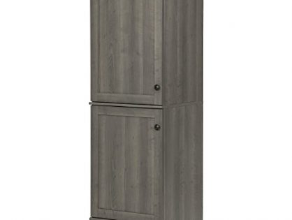 South Shore Hopedale Narrow 2-Door Storage Cabinet, Gray Maple