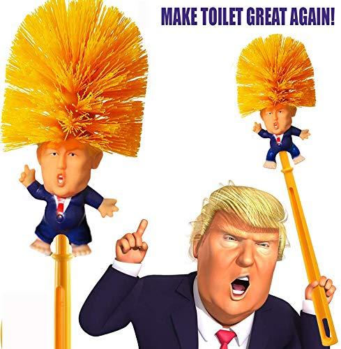 KOOYUTA Donald Trump Toilet Brush with Legs, Trump Toilet Scrubber, Make Toilet Great Again, Funniest Political Gag Gift