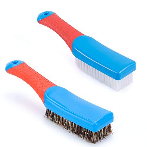 Cleaning Brush, Tile Brush | Bristle brushes | Carpet Cleaning Brush | Scrub Brush Comfort Grip & Flexible Stiff Bristles Heavy Duty for Bathroom Shower Sink Carpet Floor brush | Shower Cleaner Brus