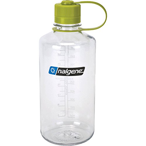 Nalgene Tritan 32 oz Narrow Mouth BPA-Free Water Bottle, Clear Green