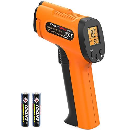 ThermoPro TP30 Digital Infrared Thermometer Gun Non Contact Laser Temperature Gun -58°F ~1022°F -50°C ~ 550°C with Adjustable Emissivity & Max Measure