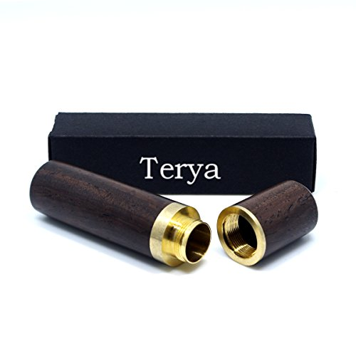 Terya Wood Toothpick Holder Portable Toothpick Holder Dispenser Pocket Toothpick Holder Dark Brown
