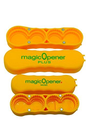 magic Opener COMBO | Water Bottle Opener | Twist-off - Arthritis Bottle Opener - Plastic Bottles | Easily open over 16 different plastic cap sizes | Arthritis Help | Arthritis Aids |Pull Tab Soup Cans