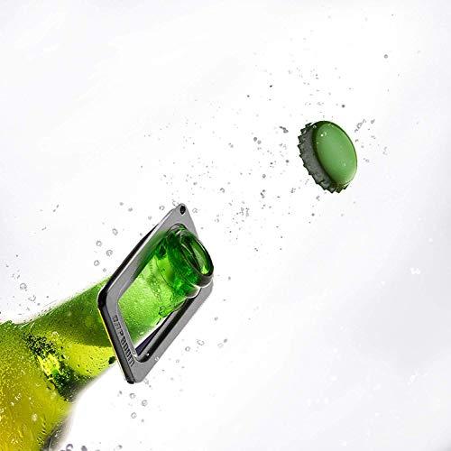 party gadget toy - Shooting bottle cap opener by CAPBOOM - firing cap beer opener - zinc and aluminum alloy metal caps launcher - bottle top shooter - keychain - shoots cap up to 30 feet in the air